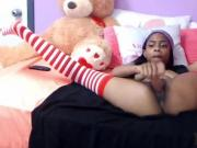 18 sexy petite black Nova with pierced tits and blow job lips