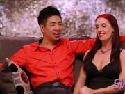 Interracial couple gets their swinger on at the swing place