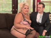 Fat ho in lingerie gets pussy pounded and face jizzed in hd