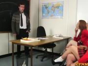 Schoolgirl cfnm wanking teachers cock until cum