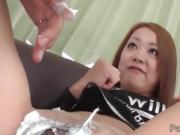 Asami Hoshikawa's twat gets stretched by a huge dick