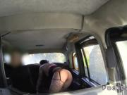 Babe anal bangs with condom in fake taxi