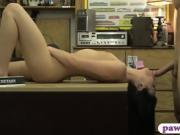 Perky tits babe banged by horny pawn guy at the pawnshop