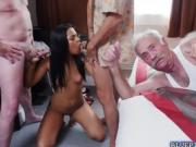 Gorgeous Nikki Kay hot orgy with old rich men