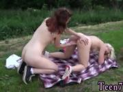 Blonde riding Hot lezzies going on a picnic