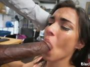 Sucking a black cock on casting call