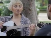 Blonde Hottie Plays Guitar Before She Eats Pusys