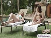 Ashley And Blair Hot Lesbi Lovemaking in Poolside