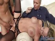 Irresistible blonde rides on a thick pole