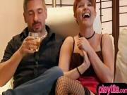 Amateur couple try swinger sex for the first time