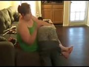 Fat femdom Tracey spanking my ass