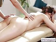 Client Georgia Loves Licking Masseuses Twat