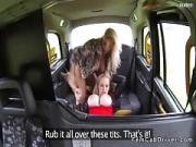 Face Sitting Oral in Young Lady Fake Taxi