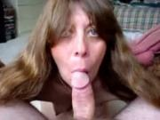 old couple sex petite fuck Sucks Her Mans Cock POV On The Sofa And Swallows