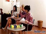 Kinky orgy session with classy bombshells