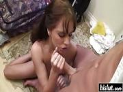 Small Boobs Hottie Loves Swallowing Penis