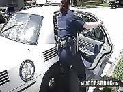 Officer Jane Sucks on Criminals Pecker in a Public Alley