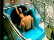Security live sex Tapes An malaysian Couple Having Sex On A Waterslide