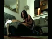 black ass wife Gives Her Nerdy Husband Head On The Sofa But Doesnt Swallow