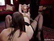 Gigantic Dong Master Bangs Lesbians in Bdsm