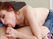 Kandi Quinn rides bigcock on the couch