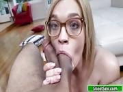 Skinny Fair Angel Receives Her Mouth Full of His Bfs Pecker