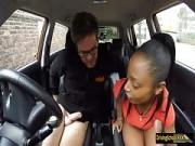 Black girl Lola Marie fucked in her first driving lesson