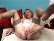 Linda 65 years old flashing on home webcam