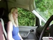 British Grace Harper fucks in the car