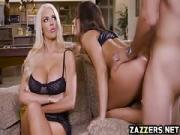 Milf Nicolette join in for a threesome