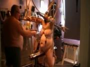 big fat butt Tied Up Slave Gets Teased By The Master
