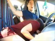 Naughty Girlfriend Sucks While Her Boyfriend Drive A Car
