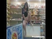 horny maid masturbates at work