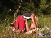 Outdoors banging session with desirable teenager Ursula