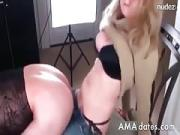 Hot Blond MILF Pegging Her Boy