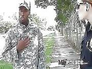 Black Soldier is Stopped by Authorities.