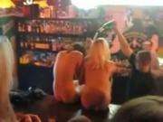 2 Bar Partygirls Get Booze Poured Over Their Hot Naked Body