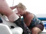 Swingers blowjob on boat my wife Caroline