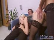 Two thick rods for saucy Gina Blonde