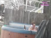 Lovers Caught Fucking in Hot Tub