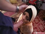 Arab girlfriend Desert Rose gets filled by long rod