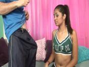 Old Gym teacher Lures A Sexy flexible girl sex Girl Into His Room 2