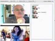 Old Guy Gets Punked On Chat Roulette
