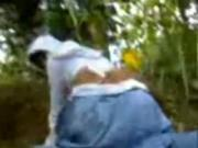 Muslim Hijab teen Gets Busted Riding Her BF039s Cock In The Forest