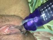 Look At All That Pussy Grool On Her Vibrator