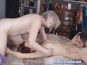 Tranny Enjoys Licking a Wet Pussy
