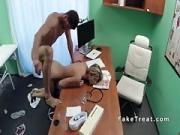 Doctor bangs slim blonde patient