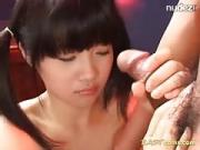 Skinny Young Oriental Licks And Spits Spunk