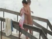 2 Naked Girls And A Guy Go Skinny Dipping In A Frozen Lake