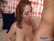 Desirable MILF Kiki swallows a massive load